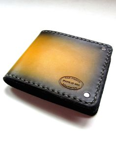 Mens Roman Yellow Leather Bifold Wallet. Like a great pair of Italian leather shoes...