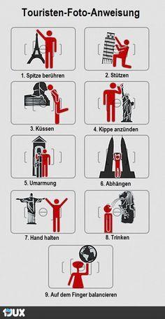 Touristen-Foto-Anweisung
