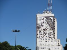 Evita in a Facade in a public building in Buenos Aires Study Spanish, How To Speak Spanish, Largest Countries, Countries Of The World, Latin America, South America, Southern Cone, Picture Places, Facade Architecture