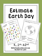 Estimate Earth Day - Your students can practice estimating and counting with these Earth Day-themed sheets. Fun for the whole class or as a center..  A GIVEAWAY promotion for Estimate Earth Day from My Book Boost on TeachersNotebook.com (ends on 4-6-2015)