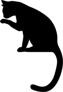 cat sitting on ribbon appliqué idea Animal Silhouette, Silhouette Art, Cat Drawing, Line Drawing, Cat Template, Templates, Image Icon, Cat Quilt, Scroll Saw Patterns