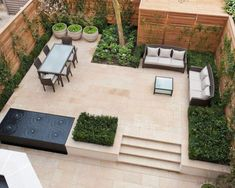 50 Modern Garden Design Ideas to Try in 2017 Contemporary garden living dining area - The Vale Garden in London by Randle Siddeley Landscape Architecture & Design Contemporary Garden Design, Small Garden Design, Contemporary Landscape, Modern Design, Modern Contemporary, Creative Landscape, Contemporary Architecture, Abstract Landscape, Landscape Paintings