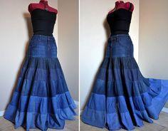 Repurpose Jeans into Skirt   Repurposed Clothing   Share
