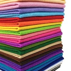 15cm 15cm, 44pcs Assorted Color Felt Fabric Sheets Patchwork Sewing DIY Craft 1mm Thick /… 15 x 15cm flic-flac 44PCS 6 x 6 inches