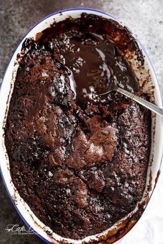 Hot Fudge Chocolate Pudding Cake | http://cafedelites.com