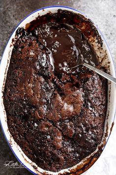Hot Fudge Chocolate Pudding Cake | http://cafedelites.com