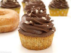 Cupcakes de donuts con buttercream de chocolate - MisThermorecetas