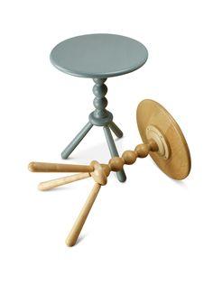 Turned pedestal side tables made in ash. Harvey Furniture, Pedestal Side Table, Craft Items, Side Tables, Wooden Boxes, Ash, Furniture Design, Stool, Crafts