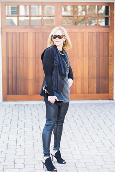 The best faux leather leggings that are under $50!  http://kathrineeldridge.com/edgy-cyber-monday/