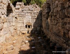 Here you can see the remnants of the Roman baths at Phaselis, #Turkey. #travel