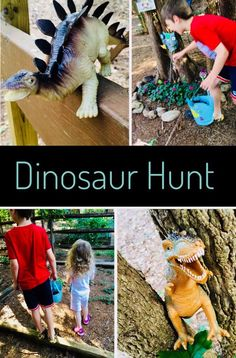 Dinosaur Hunt with plastic dinosaur toys The first week of our DIY Summer Camp is Dinosaur Week! Check out the fun & easy crafts and activities we did with our plastic dinosaur toys. Dinosaur Theme Preschool, Dinosaur Activities, Fun Activities To Do, Dinosaur Toys, Preschool Crafts, Toddler Activities, Dinosaur Projects, Dinosaur Crafts Kids, Dinosaur Classroom