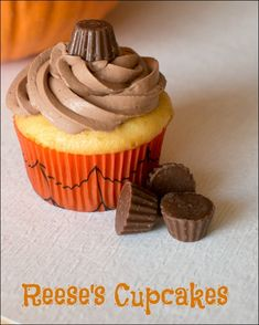 Reese's Peanut Butter Cup Cupcakes #HersheysHalloween sponsored