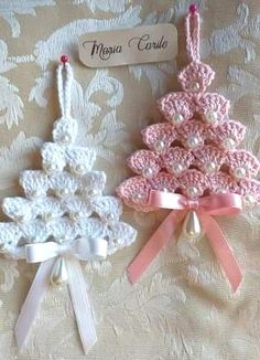Crochet Christmas Decorations, Christmas Tree Pattern, Crochet Christmas Ornaments, Christmas Crochet Patterns, Holiday Crochet, Crochet Gifts, Christmas Wreaths, Christmas Crafts, Crochet Motifs