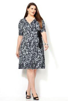 a45bfa4b53 Neutral Ponte Jacket Dress-Plus Size Dress-Avenue. ELB SLV BLK GRY  SURPLICE