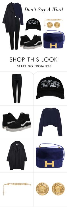 """""""Don't Say A Word"""" by anaelle2 ❤ liked on Polyvore featuring Chloé, Vans, Miu Miu, MM6 Maison Margiela, Hermès, Givenchy and Versace"""