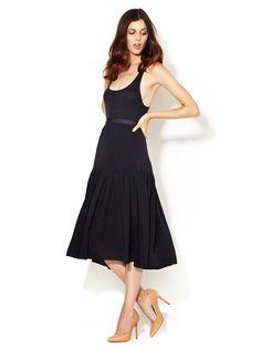 Woven silk skirt