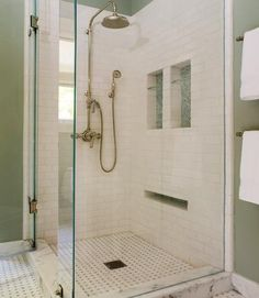 Subway tile wainscot transition design bath pinterest toilets nice and master bath - Nice subway tile bathroom designs with tips ...