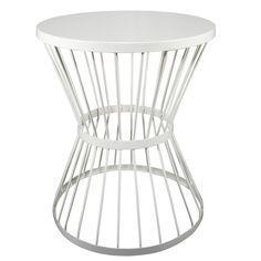 $40 Lowes - Garden Treasures 20-in White Powder Coated Indoor/Outdoor Round Steel Plant Stand