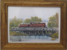 NEW CHICAGO GREAT WESTERN TRAIN PRINT BY IOWA ARTIST COLLEEN J. CARSON