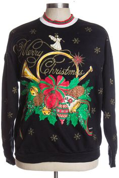 gotta love these vintage christmas sweatshirts they really know how to cover you in glitter - Vintage Christmas Sweater