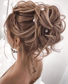 100 Prettiest Wedding Hairstyles For Ceremony & Reception Gorgeous wedding updo hairstyles perfect for ceremony and reception – Messy updo bridal hairstyle for rustic wedding,wedding hairstyles Wedding Hairstyles For Medium Hair, Rustic Wedding Hairstyles, Messy Hairstyles, Hairstyle Ideas, Gorgeous Hairstyles, Long Hair Updos, Elegant Hairstyles, Formal Hairstyles, Updos For Medium Length Hair