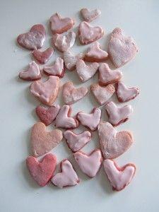 Iced shortbread love hearts