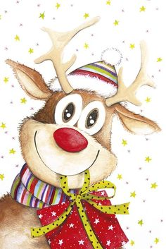 Cute Reindeer Ceramic Ornament - merry christmas diy xmas present gift idea family holidays Christmas Clipart, Noel Christmas, Christmas Scenes, Christmas Paper, Christmas Pictures, Winter Christmas, Vintage Christmas, Christmas Crafts, Christmas Decorations