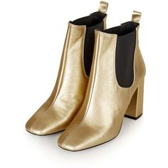 MARIA Flared Chelsea Boots (€130) ❤ liked on Polyvore featuring shoes, boots, chelsea ankle boots, topshop shoes, beatle boots, chelsea bootie and topshop boots