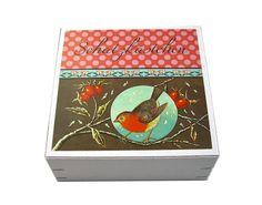 Geschenkkarton Schatzkästchen Geschenkschachtel von Kinkerlitzchen-Design auf DaWanda.com