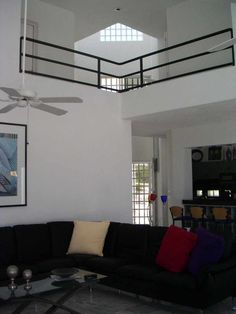 Home Design and Interior Design Gallery of Awesome Living Room Toward Second Floor