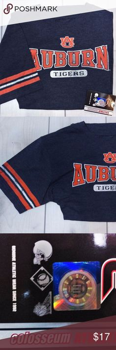 "Auburn University Tigers Tee Genuine Collegiate Yt Colosseum Athletics Tee Auburn Tigers Basketball YOUTH Sz 20 (XL) New with tags 55% Cotton 45% Polyester  Measurement: Chest flat across from armpit to armpit - 19-1/2"" Bottom hem flat across: 19-1/2"" Length from top of shoulder Smoke free facility  CT5 Colosseum Athletics Shirts & Tops Tees - Short Sleeve"