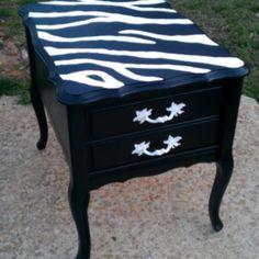 Zebra Print Table