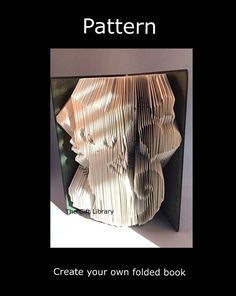 Folded Book Art Pattern Cats and hearts Pattern by TheGiftLibrary