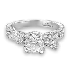 Vanna K Style No: 18RGL00279DCZ  Diamond: Round 1.00 Carat (not including 1 Carat center stone)@vanna k