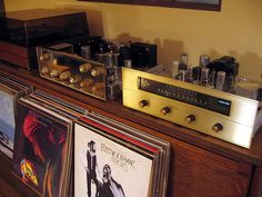 vintage Fisher stereo tuner with vacuum tubes. I've seen this one in person.