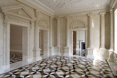 Luxury Marble Floor inside Andrey Goncharenko palatial Grade II* listed Regency mansion Hanover Lodge in London ; the most expensive townhouse in the British Capital City.