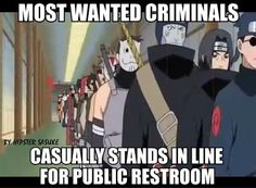 The restroom line scene was always kind of boggling to me. Even the biggest enemies will go to the can in an orderly fashion :)