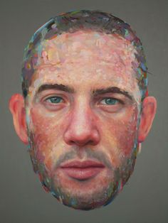 """slone:  """" Visage, oil on panel, 24 x 18 in, 2013  """""""