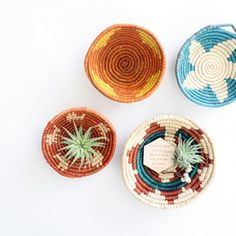 TINY WOVEN BASKET, SET OF 2 - $10