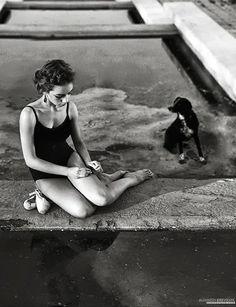 Dancer and Dog by Aleksandra Kirievskaya #kikievskaya #dog #dancer