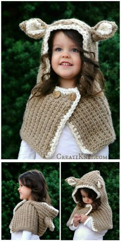 The Felicia Fawn Cowl - Knitting pattern - Enjoy Winter Wonderland adventures in this soft, woodland fawn wear! A fun & fast cowl knitting pattern, you can make this in less than a weekend. You're going to just love how cute this little baby deer accessory turns out!!