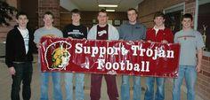Chesterton High School Football team at their Annual Fundraiser Pancake Breakfast.