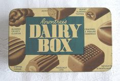 """Rowntree's """"Dairy Box"""" vintage chocolate tin - half pound size (c.1930s-50s)…remember these well....."""
