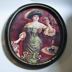 Vintage Victorian 1909 Gibson Girl Pepsi Cola Advertising Tray by parkledge on Etsy