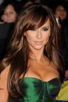 Beautiful hair color and style!  I would get bangs if they came out this perfect!