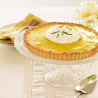 Lime Tart with Coconut Crust