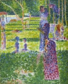 Georges Seurat, Study for A Sunday on the Island of la Grande Jatte: Couple Walking