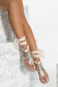 5c7dd9b2b1ce Beach Wedding Sandals with Silk Laces