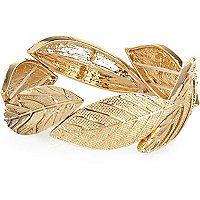 Gold tone delicate gemstone cuff set - bracelets - jewellery - women