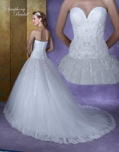 Can i get this with a sweep train?? Symphony Bridal Collections